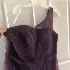 Plum colored formal dress w/one strap